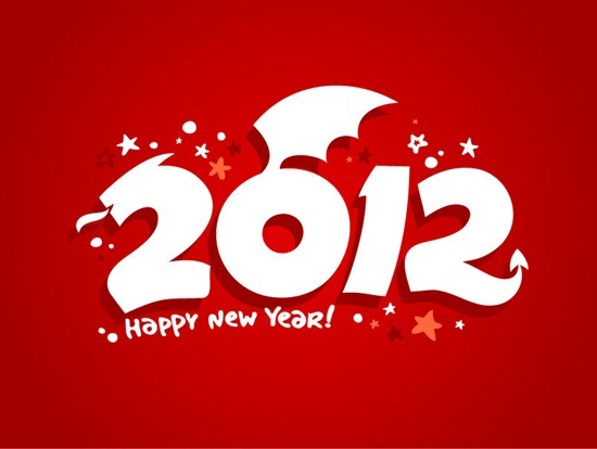 2012 Happy New Year Vector Graphic
