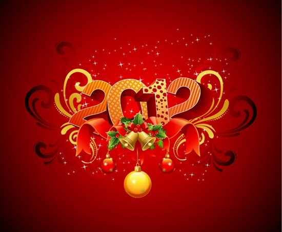 Abstract 2012 New Year Vector Illustration