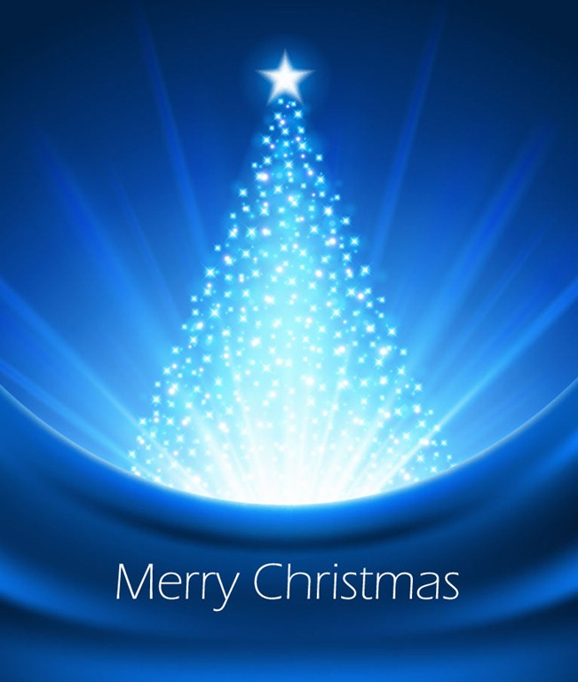 Abstract Blue Christmas Tree Vector Graphic | Free Vector | EPS10
