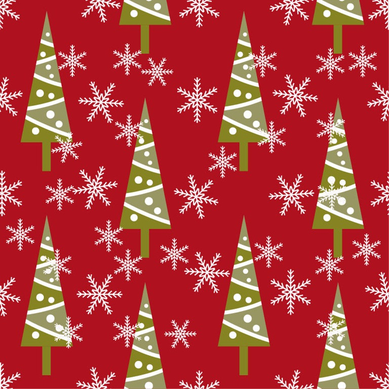 Christmas Seamless Background Vector Graphic