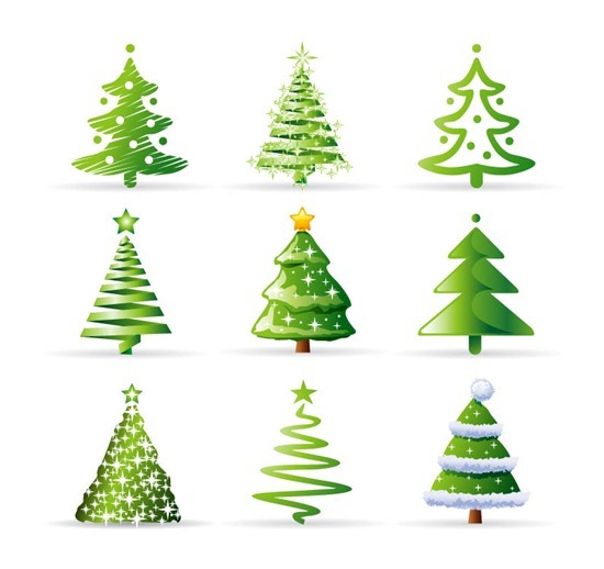 Christmas Tree Collection Vector