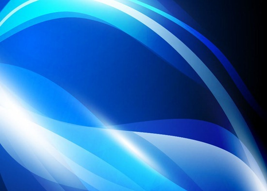 Vector Abstract Blue Waves Background Graphic