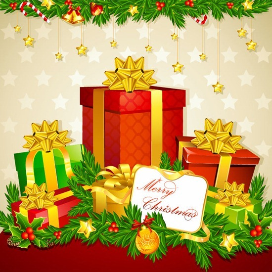 Gift Boxes for Christmas Vector Illustration