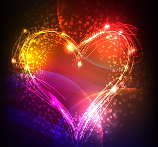 Abstract Colorful Neon Valentine Background
