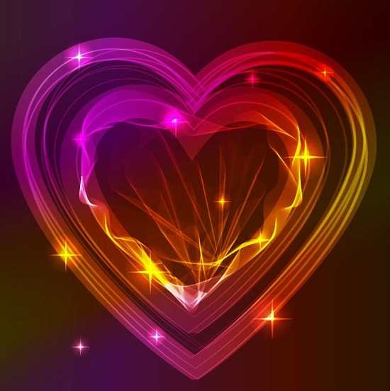 Abstract Heart Valentine Background Vector Graphic