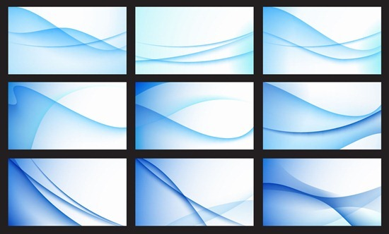 Abstract Blue Wave Background Vector Set