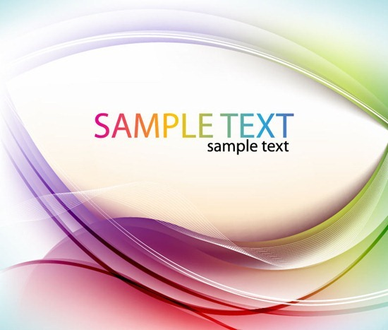 Abstract Color Curve Vector