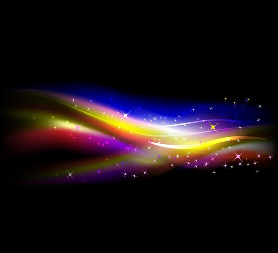 Abstract Colorful Wave Bright Background