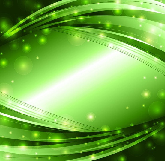 Abstract Green Lights Background Vector