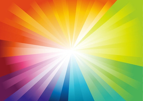 Vector Abstract Colorful Design with a Burst