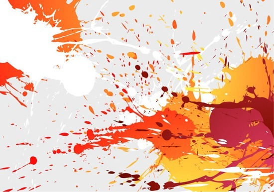 Abstract Splashes of Colour Background Vector