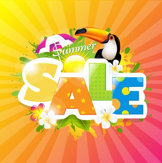 Summer Sale Design Template Vector Graphic