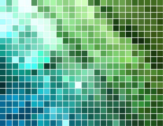 Abstract Square Mosaic Background Vector